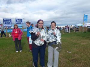 Me and sister Hannah after finishing the GNR